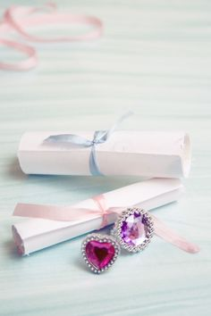 Princess scroll invitation idea - it's always better with bling -