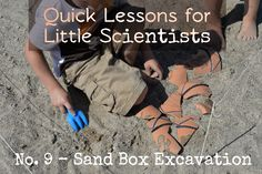 Part of our archeology day - decorated and broke apart a cheap pot, then they had to uncover the pieces in a sandbox and put it back together. Then tell me about the society based on the decorations. #archeology #science #preschool #homeschool #play #history