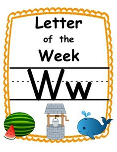 Letter of the week Ww