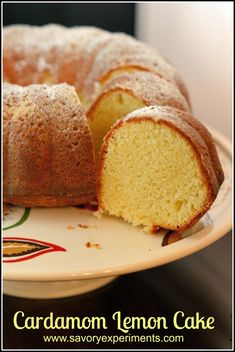 Cardamom Lemon Cake Recipe- if you haven't ever baked with cardamom, then you are missing out! This is a wonderful lemony cake perfect for coffee and tea.