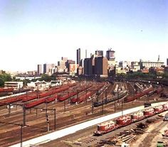 """The """"Red Rattler Trains"""" at Melbourne Victoria Australia rail yards"""