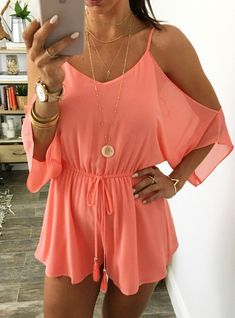 How to wear fall fashion outfits with casual style trends Cute Summer Outfits, Spring Outfits, Cute Outfits, Summer Clothes, Cute Rompers, Fashion Outfits, Womens Fashion, Jumpsuits For Women, Swagg