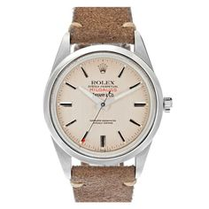 1970s vintage Rolex Milgauss signed By Tiffany & Co | Love the wristband on this watch.