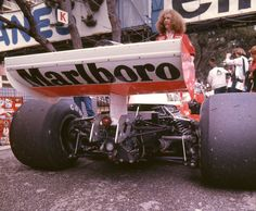 James Hunt's McLaren M23E - Ford-Cosworth DFV 2,993 cc (182.6 cu in) 90° V8, naturally aspirated, mid-mounted,1977