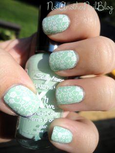 15 ιδέες για να mint green manicure