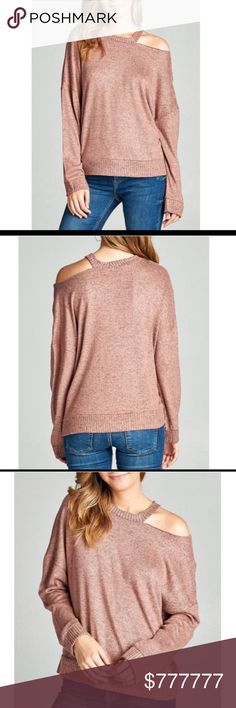 FLASH SALE!️Dusty Pink Erica Cutout Top Just beautiful for fall. This rayon,polyester, spandex blend cut out tunic top is so soft and a great pick for the fall.  It comes in small,medium, or large. Fits true to size. If in between sizes, go 1 size up. Very High Quality and so soft and light weight! Model is wearing the exact product Price firm unless bundled with another item. Boutique Sweaters Crew & Scoop Necks