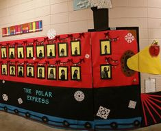 how to make a polar express train from cardboard boxes School Hallway Decorations, Office Christmas Decorations, Office Christmas Party, Christmas Train, Cubicle Decorations, Christmas Pageant, Christmas Jokes, Pre Christmas, Christmas Yard