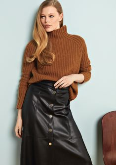 efficiency, and productivity are important. So are and Specializing in in the segment Cashmere stands for and articles as well as for a strong sense of with respect to correct conditions Ibiza, Delia Fischer, Vogue, Brown Sweater, Leather Fashion, Leather Skirt, Cashmere, Turtle Neck, Pure Products