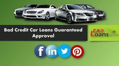 guaranteed car finance with bad credit