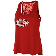Image for Touch by Alyssa Milano Women's Kansas City Chiefs Flourish Tank Top from Academy