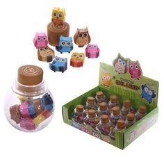 STA31 - Confezione di Mini Gomme da Cancellare Gufetti | Puckator IT #partybag #kid #idee #compleanno #bambini