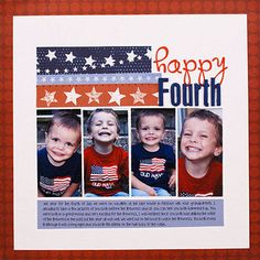 Happy Fourth Scrapbook Page