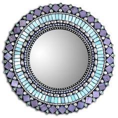 "Mirror Turquoise Purple 10"", $85, by Zetamari !!"