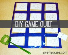 DIY Game for Learning the Alphabet: Swat the Bugs! Learn how to use Duct Tape and Sandwich Bags from the Dollar Store to Make this SUPER FUN Hands-on Learning Game for your preschool or kindergarten kids! Preschool Math Games, Gross Motor Activities, Preschool Kindergarten, Classroom Activities, Space Activities, Kindergarten Centers, Preschool Printables, Homeschool Math, Toddler Activities