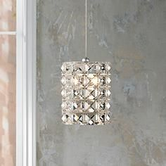 "Possini Euro Design Pantheon 4"" Wide Crystal Mini Pendant 10200"