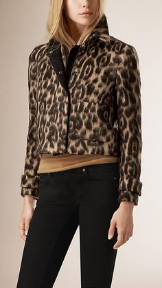 31f8c6ea87969 Camel Animal Print Virgin Wool Alpaca Jacket - Image 1 Camel Animal