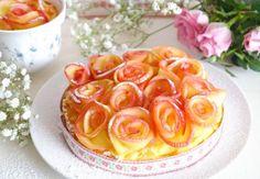 Zachte cakejes van citroenpudding met appelroosjes