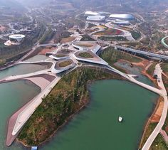 Sprawling wetland structures by HHD_FUN host Chinese horticultural show.