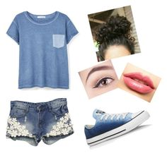 """""""look confortável p/ cacheada"""" by thamires-2110 on Polyvore featuring MANGO, LASplash and Converse"""