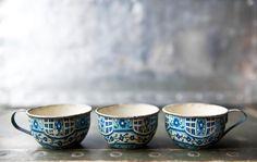 Vintage Tin Toy Teacups by ReneeVintage on Etsy