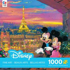 Ceaco Disney Mickey Mouse, Fine Art, Paris Sunset Puzzle (1000 Piece)