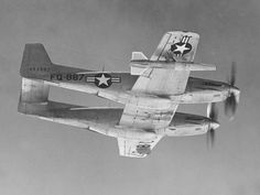 Inflight P-82 Twin Mustang. The laboratory acquired the first in 1947 for use as a test bed for ramjet engines. The aircraft was damaged in a runway incident in December 1949 and soon transferred.