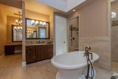 Master Bathroom tub and additional vanity area