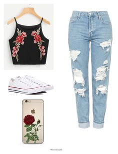 """Untitled #2"" by gracekj on Polyvore featuring Topshop and Converse"