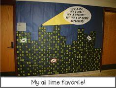 Whoooo's Ready To Teach: Superhero Themed Third Grade Hallway