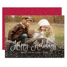 Shop Merry Christmas Snow Holiday Card created by NBpaperco. Personalize it with photos & text or purchase as is! Modern Christmas Cards, Merry Christmas, Christmas Photo Cards, Christmas Photos, Christmas Greetings, Snow Holidays, Happy Holidays, Holiday Wishes, Holiday Cards