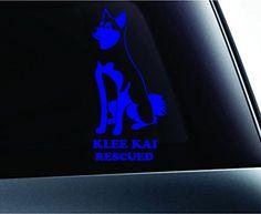 Alaskan Klee Kai Rescued Dog Symbol Decal Funny Car Truck Sticker Window (Blue) ExpressDecor http://www.amazon.com/dp/B00S1R679M/ref=cm_sw_r_pi_dp_TYfSub05WTK81