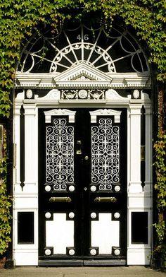 Gorgeous black and white door