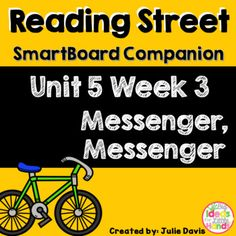 This is a SmartBoard activity to accompany Reading Street Unit 5 Messenger, Messenger. This is a 5 day lesson with multiple activities for each day that include sight words, grammar activities, letter U and X, blending sounds and words, journal activities, games, videos and much more. This lesson also includes learning about the bike messengers and other forms of transportation that help people. There is also lessons on dates and compare and contrast.