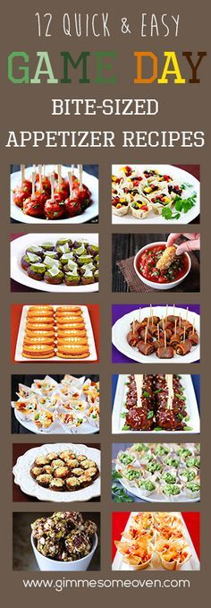 Game Day Appetizer Recipes | gimmesomeoven.com