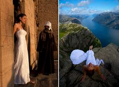 Neatorama:  One Dress, One Woman, One World,    Photos of woman in wedding dress from around the world.