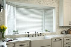 Blinded by the (filtered) light. Blinds combine sleek functionality and versatility, and provide lasting style for any home. Mini Blinds, Blinds For Windows, Window Coverings, Window Treatments, Aluminum Blinds, Budget Blinds, Blinds Design, Extreme Makeover, Decorative Tape