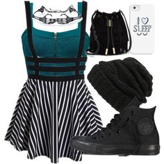 A fashion look from September 2015 featuring Element tops, Converse sneakers and Vince Camuto shoulder bags. Browse and shop related looks.