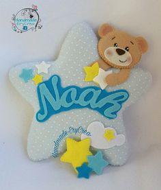 Fiocco nascita personalizzato stella e orsetto