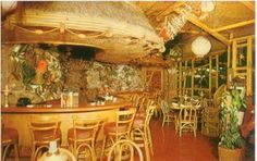 """Alison Martino's """"Vintage Los Angeles"""": The Luau in Beverly Hills. Steven Crane's Tiki oasis on Rodeo Drive http://martinostimemachine.blogspot.com/2009/09/this-1959-magazine-movie-screen-year.html"""