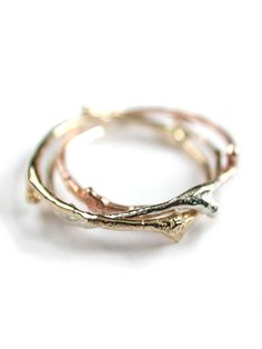 Twig style rings