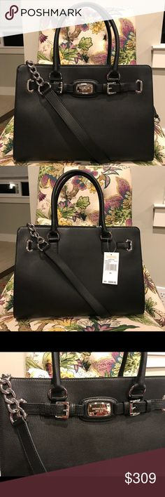 Micheal Kors Hamilton Leather Purse Wow! This ones a beauty. Very sophisticated with a sexy shoulder strap. Authentic and new! MICHAEL Michael Kors Bags Shoulder Bags