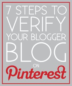how to verify your blog on pinterest.