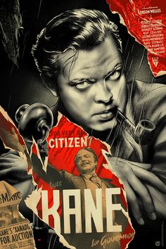 Citizen Kane (El ciudadano Kane, Martin Ansin Edition: Regular Run: 400 Size: 24 x 36 Status: Pre-Order, Poster is expected to ship to customers in Late January 2018 Printed By: VGKids Hand numbered, Limited Edition * Please note that all sales are final. Old Movie Posters, Classic Movie Posters, Cinema Posters, Movie Poster Art, Classic Movies, Old Movies, Vintage Movies, Indie Movies, Citizen Kane Movie