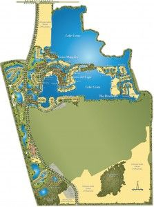 Map view of Miromar Lakes in Estero, Florida.