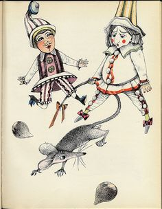 Hoffmann´s The Nutcracker and the Mouse King. Illustrated by Dagmar Berková. Published in 1964 in Prague. Children's Book Illustration, Illustration Children, Book Illustrations, Drawing For Kids, Children Drawing, Ballet Costumes, Modern History, Typography Prints, Cover Art