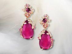 12ccb6c417f1 ANDRE MARCHA. Naturalis - Rubellite Earrings.