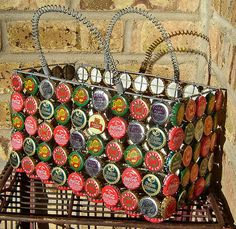 Bottle cap basket - love it!