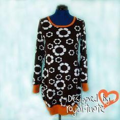 Sara tunika kuviollinen (XS-XXL) Dresses With Sleeves, Long Sleeve, Design, Products, Fashion, Moda, Sleeve Dresses, Long Dress Patterns, Fashion Styles