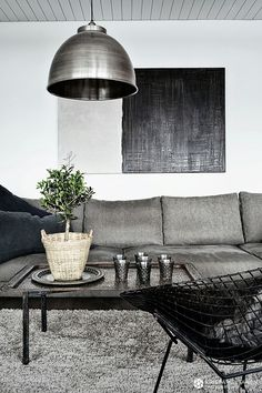 Gray living room-For more information on creating your dream home contact www.customhomesbyjscull.com