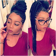 When your hairstylist is bae😍😍😍 African Braids Hairstyles, Protective Hairstyles, Weave Hairstyles, Girl Hairstyles, Protective Styles, Black Girl Braids, Braids For Black Hair, Girls Braids, Pretty Braids